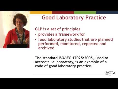 ILSI India: An Overview on Good Laboratory Practices (Dr. Anne Bridges)