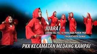 Terbaik..Kader PKK Kecamatan Medang Kampai  Raih Juara I Lomba Yel-Yel 10 Program Pokok PKK