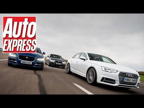 Audi A4 vs Jaguar XE & BMW 3 Series: mega exec group test