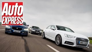 Audi A4 vs Jaguar XE & BMW 3 Series: mega exec group test
