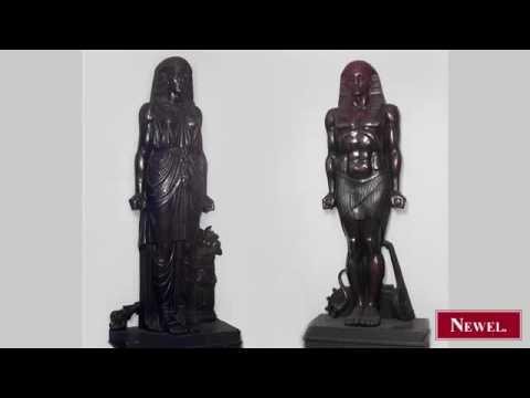 Antique Set of 4 Russian monumental bronze Egyptian figures