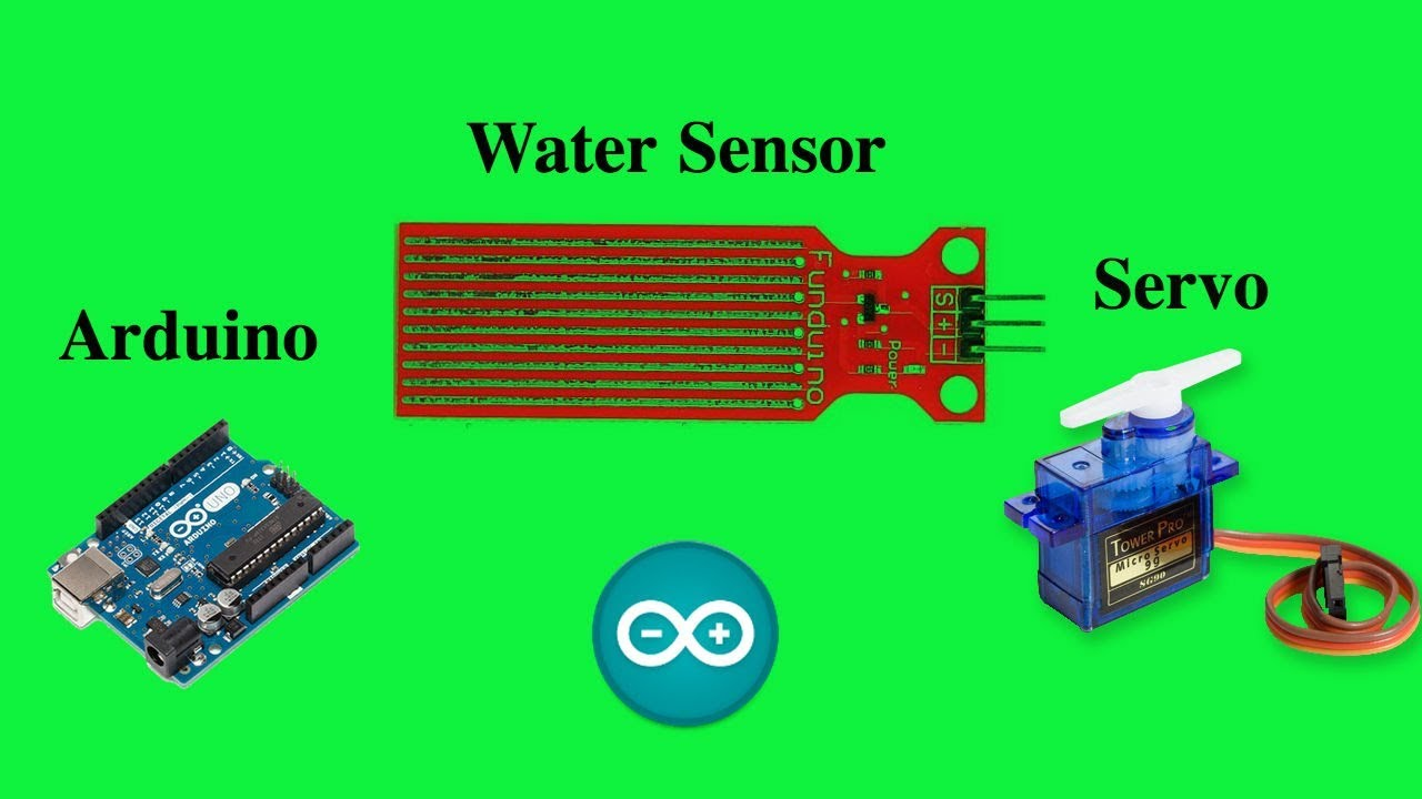 Arduino Water Sensor and Servo (Water sensing windshield