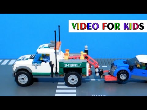 Lego CITY Pickup 60081 tow truck - film for children - YouTube
