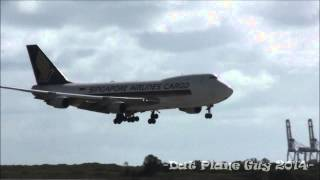 Singapore Airlines Cargo Boeing 747-400 | Landing RWY 19 | Brisbane Airport