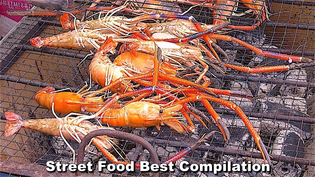 GRAPHIC - Street Food Best Compilation - Supreme Seafood King River Prawns n/ King Crabs Ep12