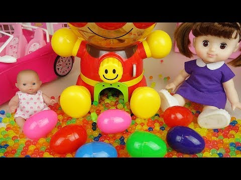 Thumbnail: Baby doll and Orbeez Surprise eggs candy machine and drink machine toys play