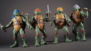 Teenage Mutant Ninja Turtles Classic Collection 1990 Movie Style Action Figure Review Classics TMNT