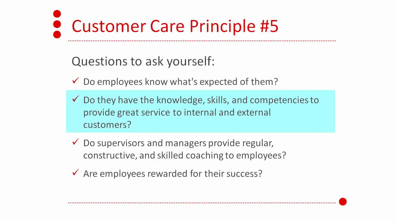 core principles of customer care 5 core principles of customer care