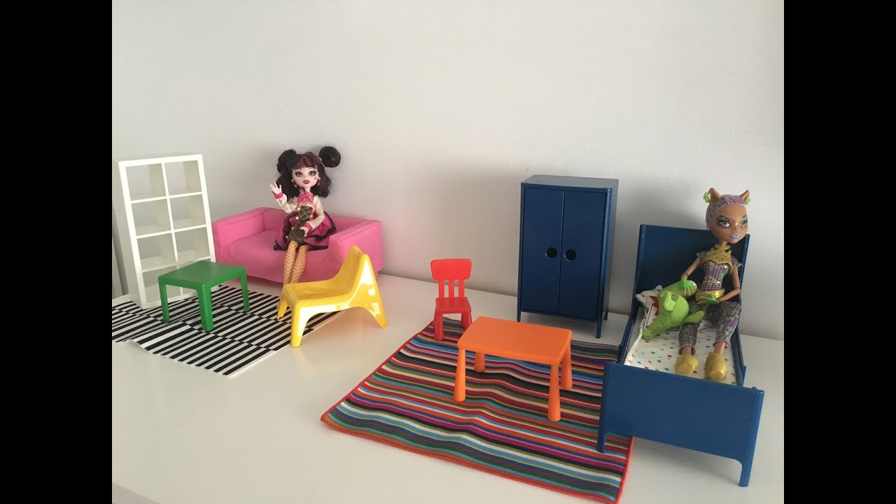 Nuevos muebles de ikea para mu ecas barbie monster high for Muebles de munecas