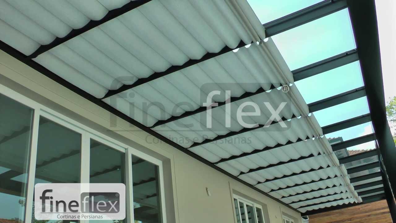 cortina romana de teto motorizada fineflex youtube ForModelos De Techos Para Galerias