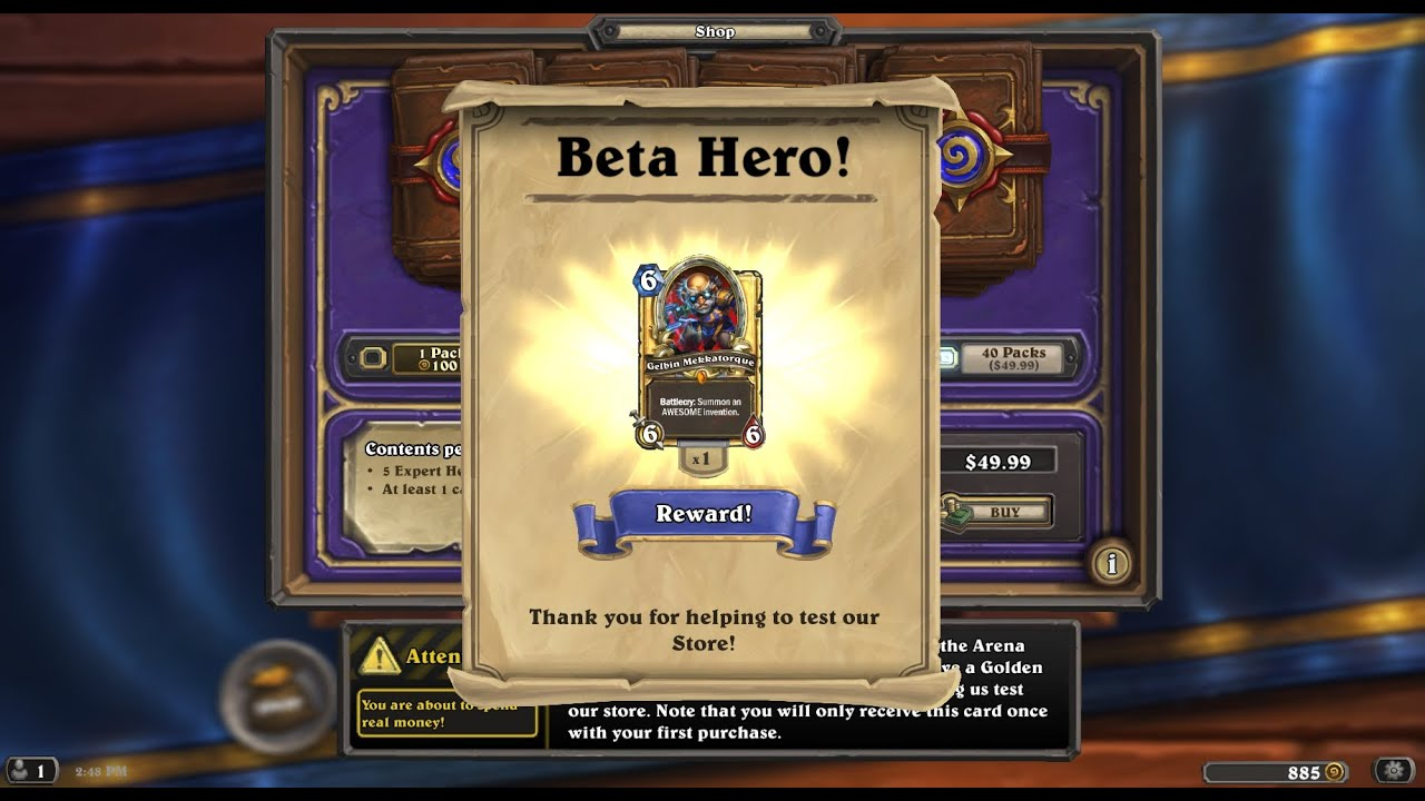 Hearthstone (Beta) Christmas Card Opening Special - YouTube