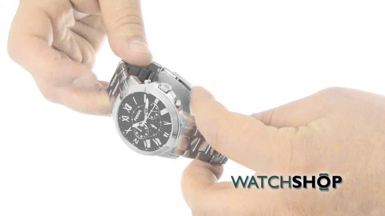 Mens Fossil Grant Chronograph Watch Fs4736 Youtube