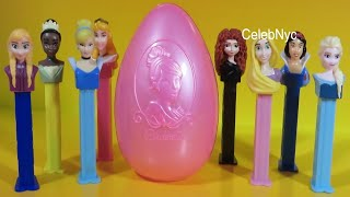 Disney Princess - Pez Candy & Dispenser  - Disney Cinderella Tiana Rapunzel Snow White