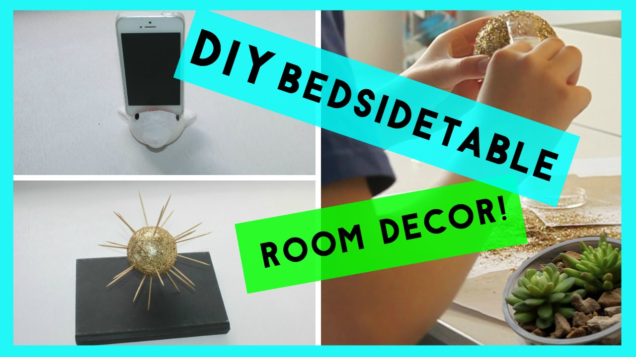 Bedside table decor pinterest - Diy Bedside Table Room Decor Pinterest Inspired