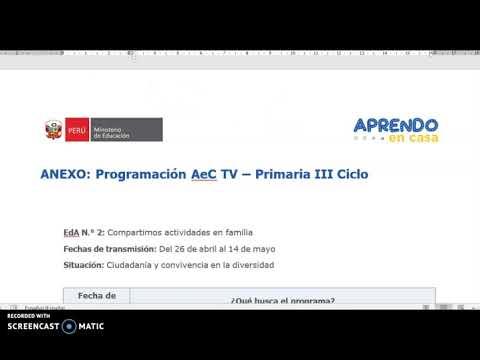 PROGRAMACION  TV PRIMARIA (26 abril - 14 de mayo)