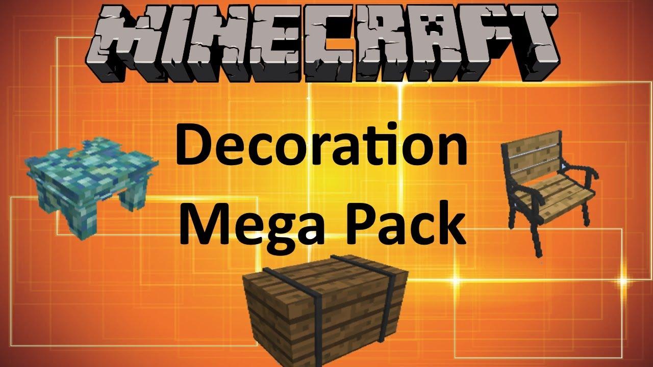 minecraft decoration mega pack mod youtube. Black Bedroom Furniture Sets. Home Design Ideas