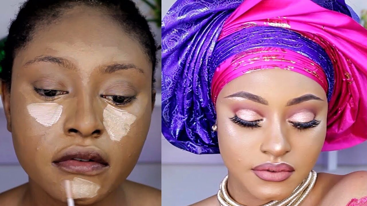 nigerian traditional bridal makeup tutorial 2018