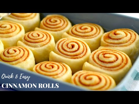 Quick And Easy Homemade Cinnamon Rolls Recipe / Soft And Fluffy Cinnamon Rolls In 4 Simple Steps