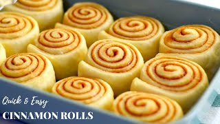Quick and Easy Homęmade Cinnamon Rolls Recipe / Soft and fluffy Cinnamon rolls in 4 simple steps