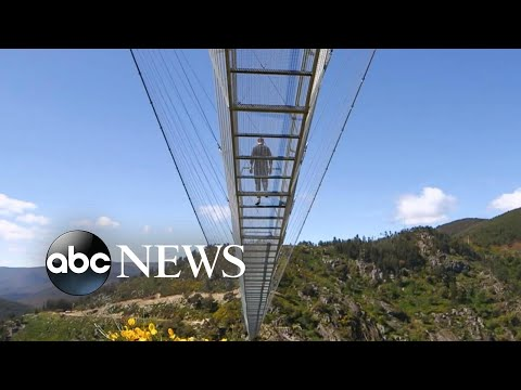 Portugal unveils world's longest footbridge as Europe starts to reopen