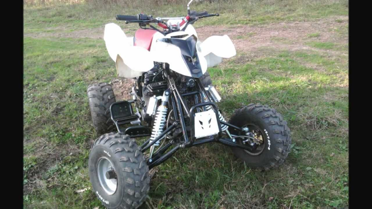 quad prototype 600cc moteur de moto suzuki 4 cylindres youtube. Black Bedroom Furniture Sets. Home Design Ideas