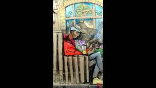 Портретный набросок с натуры, Беседин © drawing urbansketch sketch sketching illustration picture)