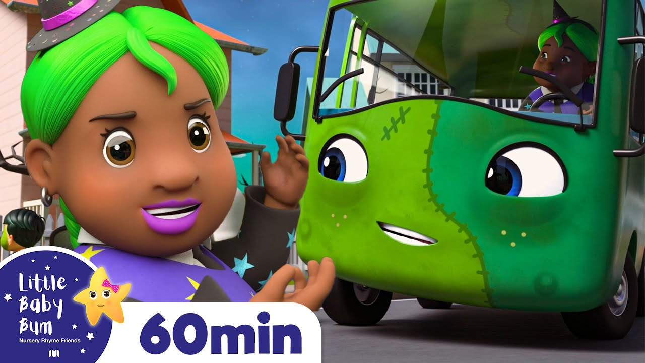 Wheels On The Bus! It's Halloween! +More Nursery Rhymes and Kids Songs ABCs & 123s | Little Baby Bum