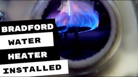BRADFORD WATER HEATER INSTALL PLUMBING APPRENTICE TIP OF THE DAY