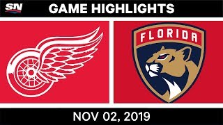 NHL Highlights   Red Wings vs Panthers – Nov. 2, 2019