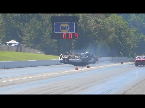 Rumble Maple Grove Wreck Driver lucky! 8-27-16