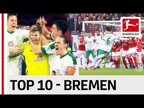 10 лучших голов «Вердера» в сезоне-2016/17 Бундеслиги