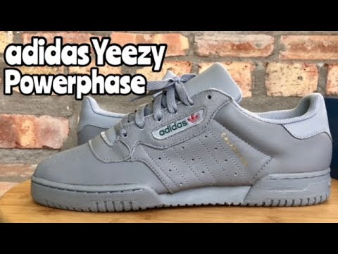 "892ac5a870734 adidas Yeezy Powerphase ""Grey"" ""Calabasas"" review - YouTube"