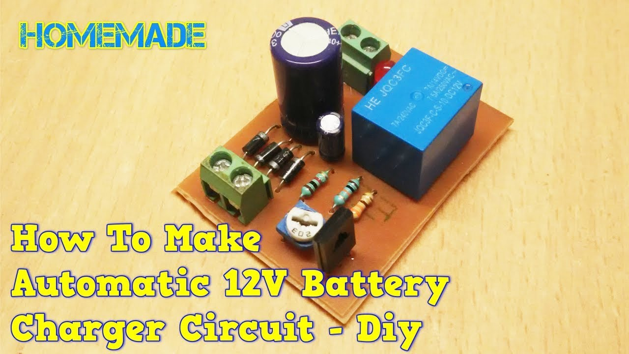 how to make 12v automatic battery charger circuit diy [ 1280 x 720 Pixel ]