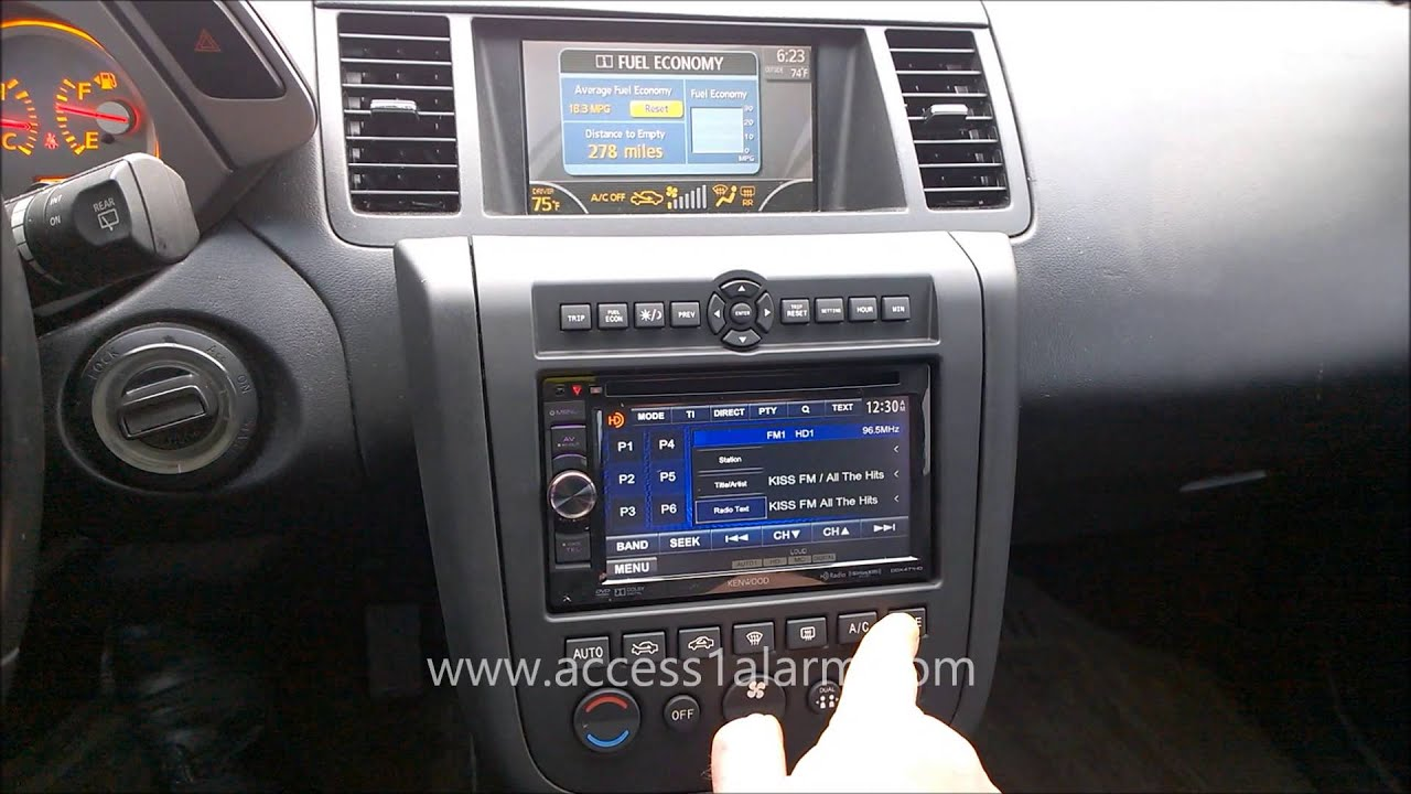 2003  2007    Nissan       Murano    Kenwood 2 DIN Radio Install  YouTube