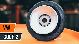 Kuinka korvata Iskunvaimentimen tukilaakeri VW GOLF II (19E, 1G1) - opetusvideo