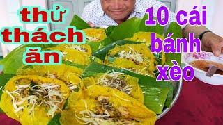 Thử thách ăn 10 cái bánh xèo, mừng mùng 5 tháng 5 l Tâm Chè Vĩnh Long