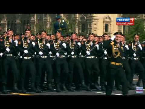 61 отдельная Киркенесская Краснознаменная бригада морской пехоты ( Спутник) Парад 2018