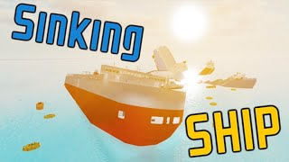 Roblox Sinking Ship! oh and playing with a friend