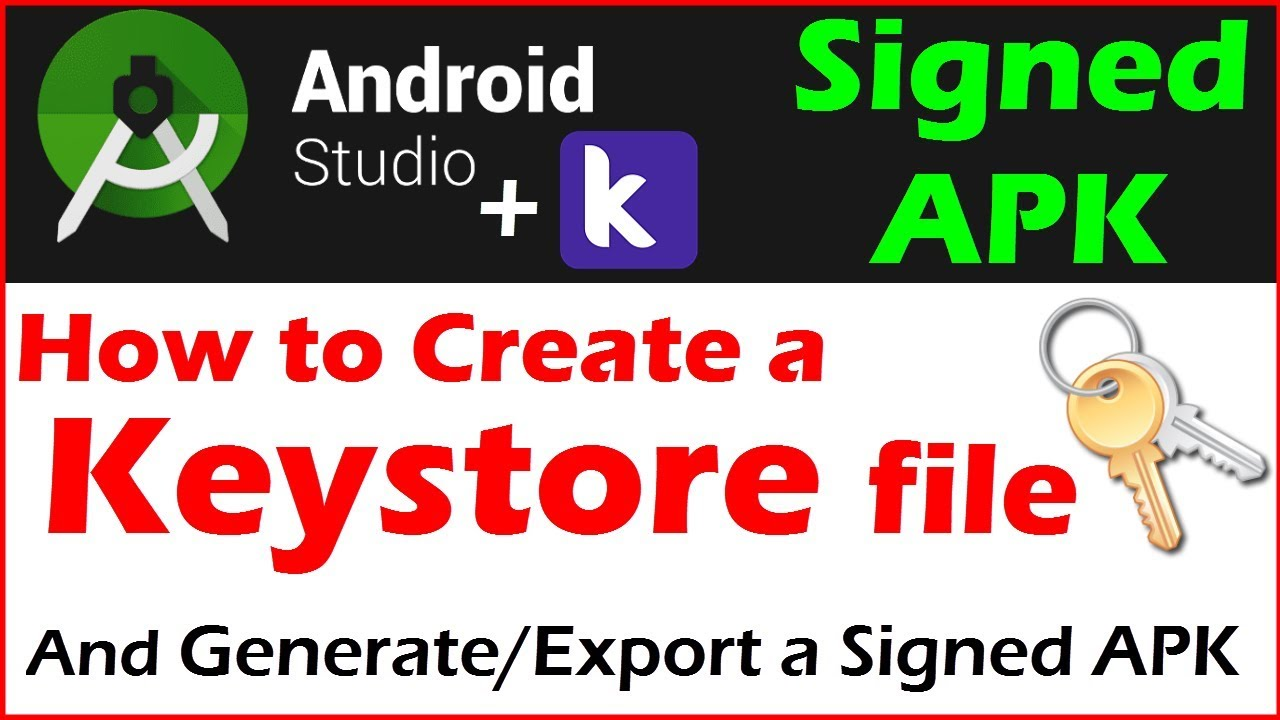 How to Generate Signed APK Android Studio | how to create a keystore file | generate jks file  #Smartphone #Android