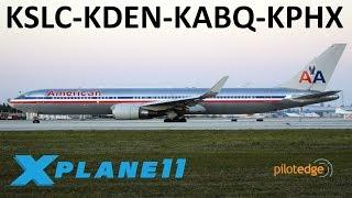 X-Plane 11 | Some Boeing Love!!! | KSLC-KDEN-KABQ-KPHX | B767 B757 B737 | PilotEdge thumbnail