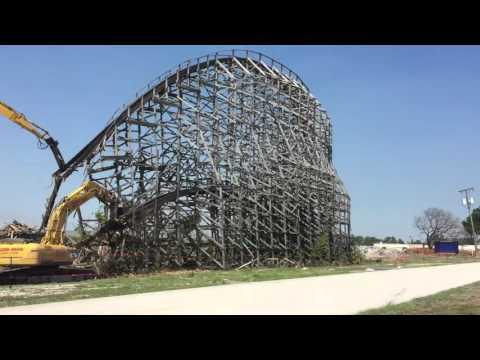 Hurricane Roller Coaster in Dania Beach Coming Down