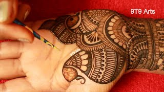 Karva Chauth Special Easy Mehndi Design for Front Hands  Best Arabic Henna  New Floral Henna Designs