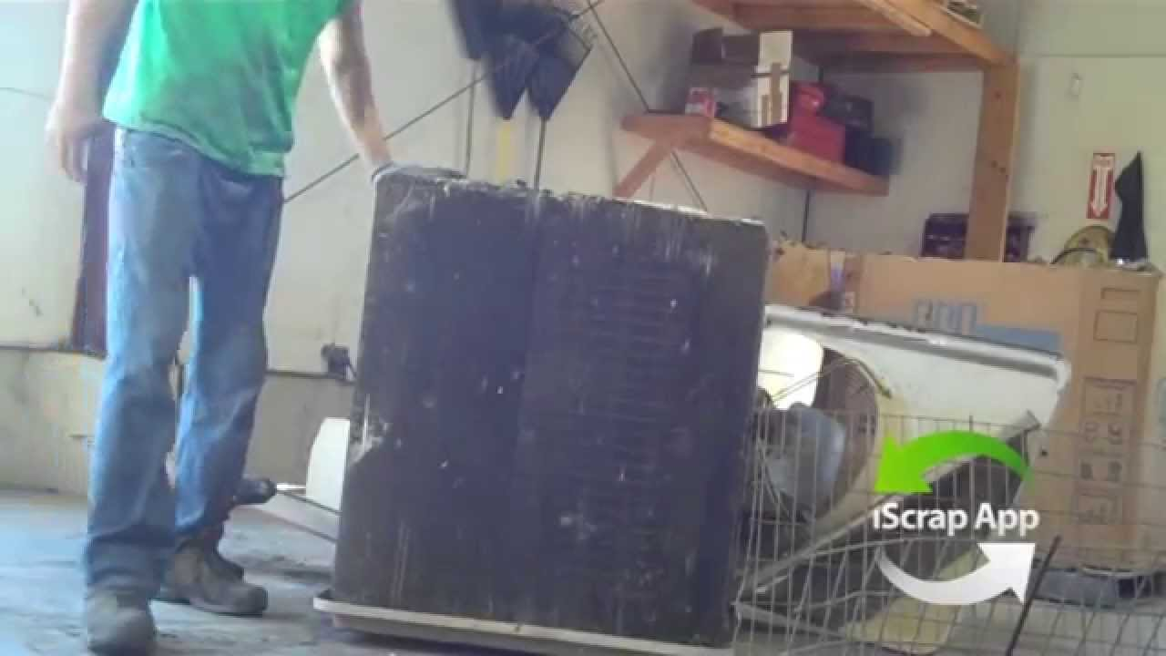 Taking Apart an A/C Unit for Scrap