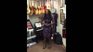 Angel Blue sings Summertime at Les Aldrich Music