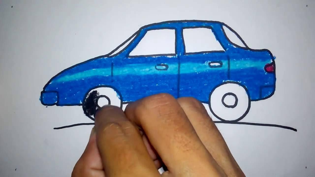 Contoh gambar mobil untuk anak TK taksi blue bird