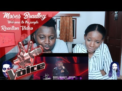Moses Welcome To The Jungle|Blind Auditions|The Voice Kids Indonesia Season 3GTV2018 REACTION VIDEO