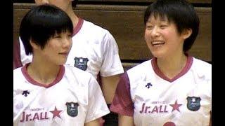 女子バレー石川真佑・曽我啓菜【全日本ジュニアオールスタードリームマッチ・STAR vs WING 1st】Volleyball girls Japan