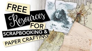 Free Resources For Scrapbooking And Paper Crafting Printables