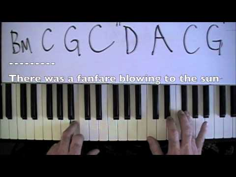 After the Gold Rush-Neil Young- Piano Tutorial-mikesmusic123