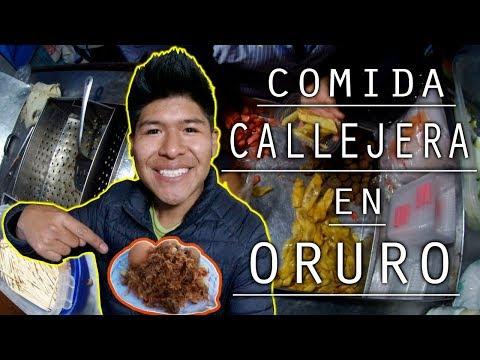 Así es la COMIDA CALLEJERA en ORURO, BOLIVIA